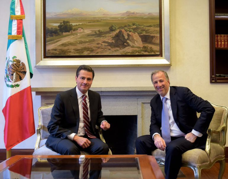 EPN recibe en los pinos a Meade: Enrique Peña Nieto recibe en Los Pinos a José Antonio Meade