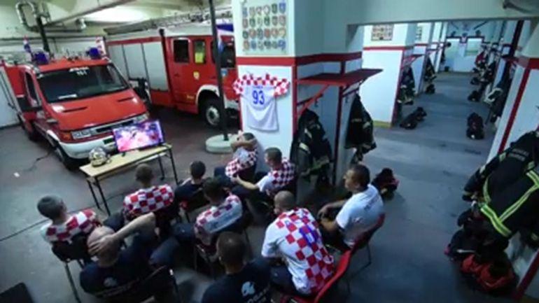 Croacia Rusia 2018: Así celebraron bomberos triunfo de su selección