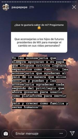 Paulina: ¿Qué le dijo la hija de Peña a los hijos de AMLO?