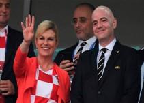 Presidenta de Croacia no goza de privilegios en el Mundial