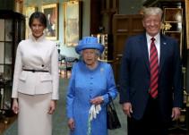 Donald Trump visita a la reina Isabel de Inglaterra