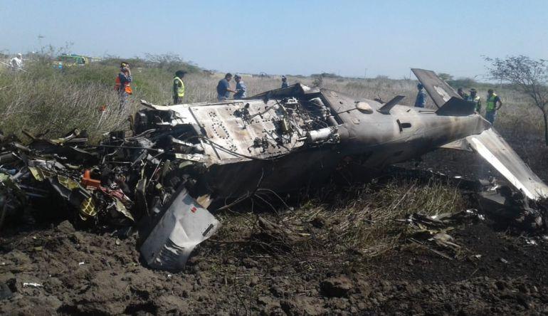 Se accidenta avión de la Sedena en Oaxaca