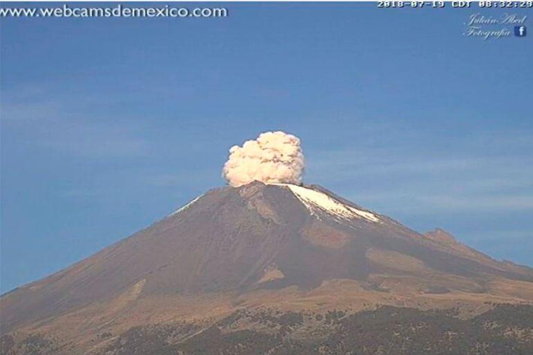 VIDEO: Popocatépetl aumenta actividad durante sismo