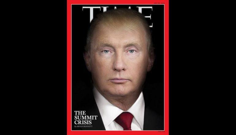 Portada Time Vladimir Putin y Donald Trump