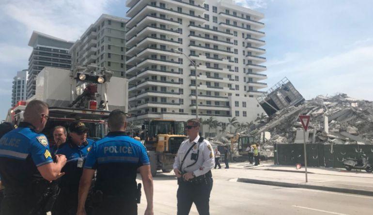 Colapso de edificio en Miami deja un herido