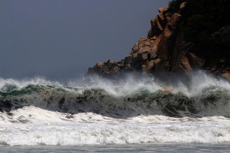 Alertan por mar de fondo en costas del Pacífico