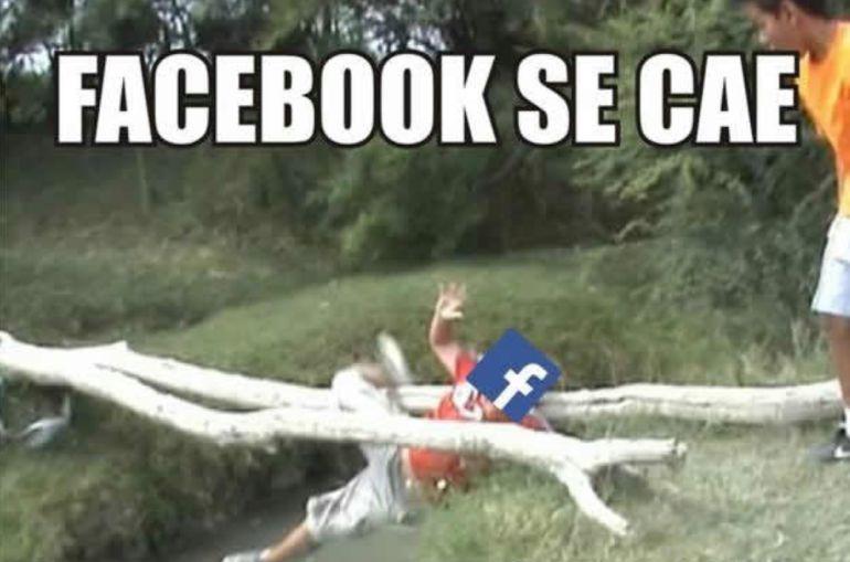 Los memes de la caída mundial de Facebook