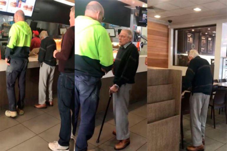 Hombre se solidariza con abuelo tras perder a su familia