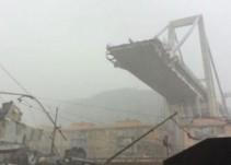 Colapsa puente en Génova y autos caen al vacío