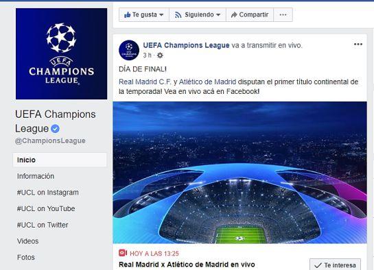 Facebook champions league