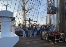 Los tripulantes del Buque Cuauhtémoc saben de los riesgos en el mar