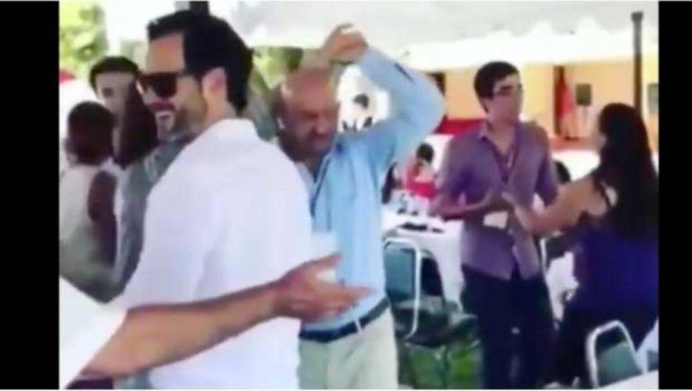 "Captan a Salinas de Gortari bailando ""Tiburón, tiburón"""