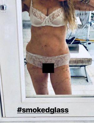Madonna luce su cuerpo desnudo a sus 60 años
