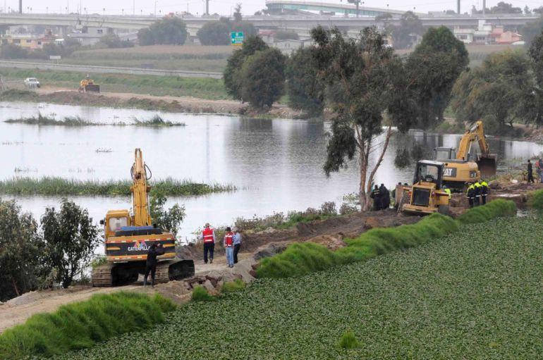 desbordamiento, Río Lerma: Más de dos mil afectados por desbordamiento del Río Lerma