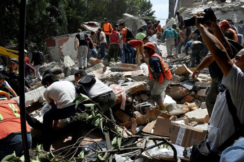 Los mexicanos dieron apoyo a los afectados por el sismo