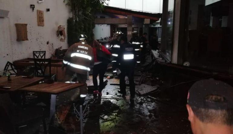 Seis heridos por explosión en restaurante de Coyoacán