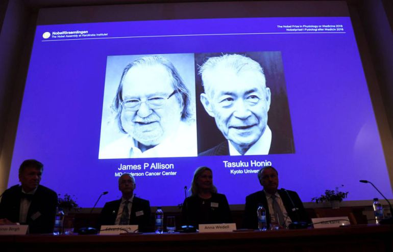 Nobel de medicina a investigadores por terapia contra cáncer