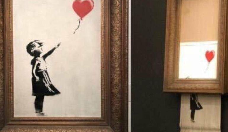 """""""Niña con globo"""" la obra que se autodestruyó por ser subastada"""