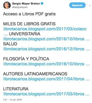 "Sergio Mayer invita a descargar libros ""piratas"""