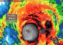Willa ya es potencialmente catastrófico; escala a categoría 5