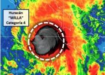 Willa pierde fuerza; cae a categoría 4 pero aún es peligroso