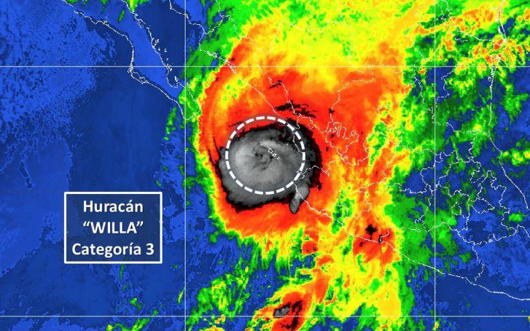 """Willa, huracán: EPN atento a la evolución de """"Willa"""""""