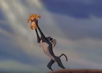 """Mono recrea escena de la cinta """"El Rey León"""""""