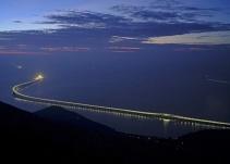 China abre el puente sobre el mar más largo del mundo