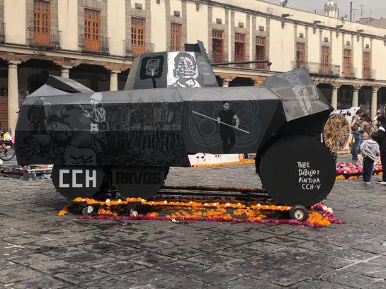 Dedican Megaofrenda UNAM a los caídos del 68