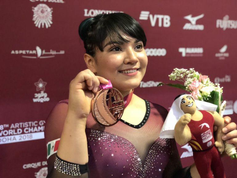 Alexa Moreno obtiene medalla de bronce
