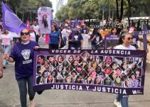 Marchan en contra de los feminicidios en la CDMX