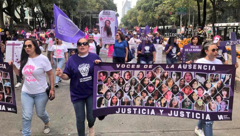 Día de Muertas, marcha, feminicidios: Marchan en contra de los feminicidios en la CDMX