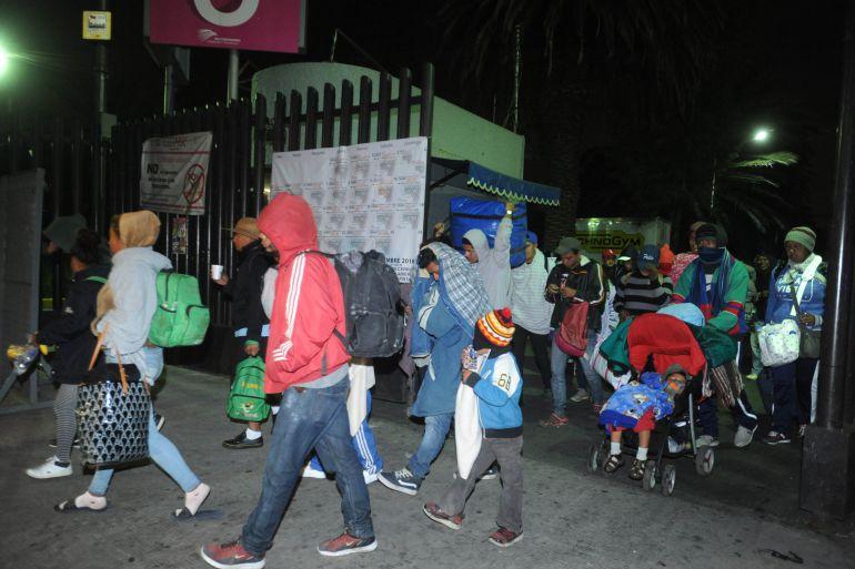 Caravana Migrante parte de la CDMX
