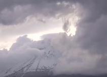 La Navidad llegó al Popocatépetl; así amaneció el volcán