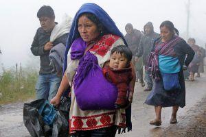 Olvidan a caravana de indígenas en Chiapas