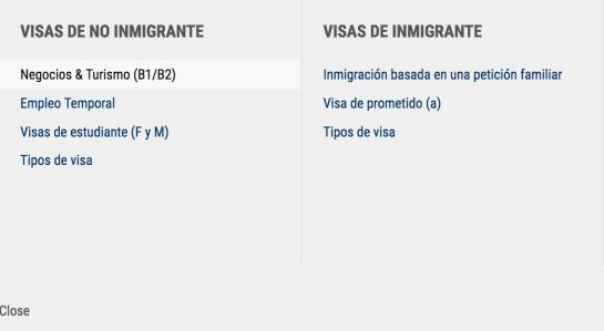 visa Estados Unidos