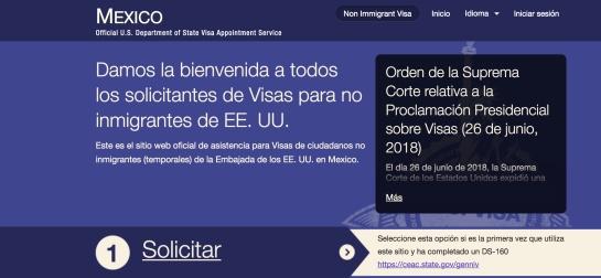 visa americana cita