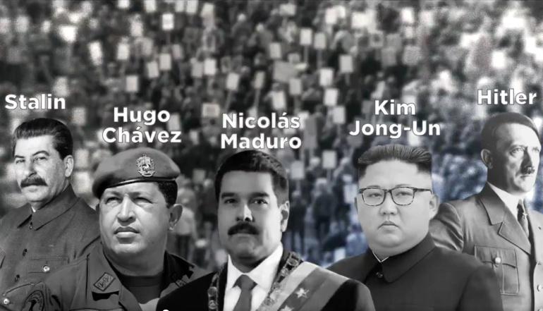 ¿Spot del PAN compara a AMLO con Hitler, Stalin, Chávez, Maduro y Kim Jong?