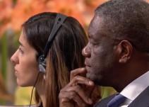 Entregan Premio Nobel de la Paz 2018 a Denis Mukwege y Nadia Murad