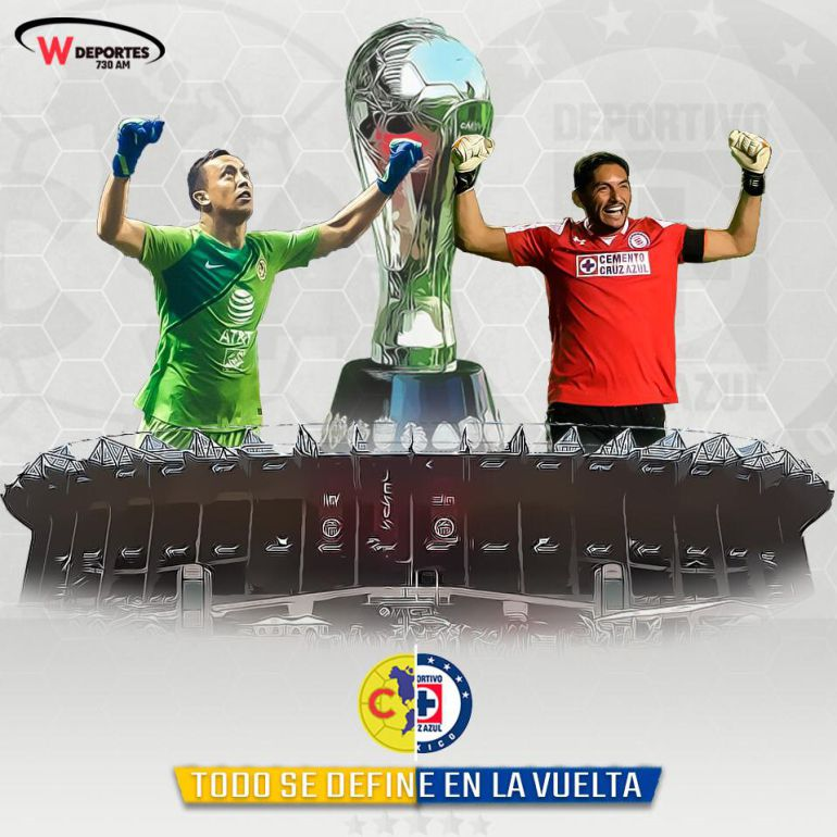 América y Cruz Azul no se hacen daño en la final de ida de la Liga MX