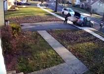 Ladrón intenta robarse pantalla y se cae
