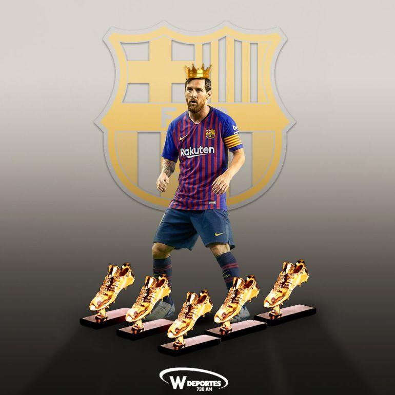 Lionel Messi gana la Bota de Oro