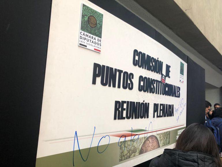 Posible aprobación de Guardia Nacional genera protestas en San Lázaro