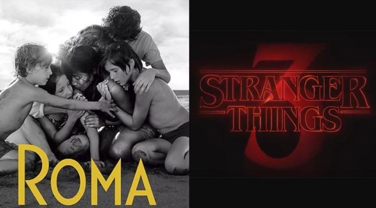 "Stranger Things ""copia"" poster de la película Roma"