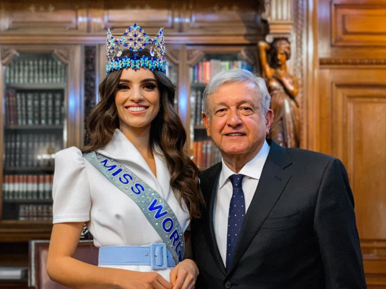 AMLO se reúne con Miss Mundo