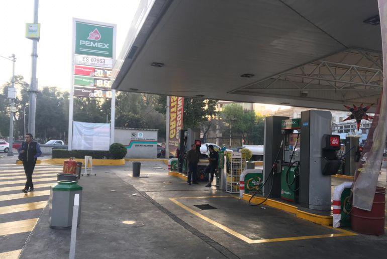 Así amanecieron las gasolineras en la Ciudad de México