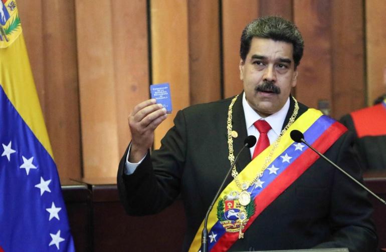 """[VIDEO] ¿Por qué Maduro gritó """"Viva México"""" en su investidura?"""