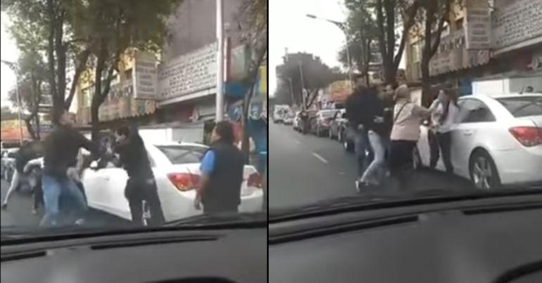 Se enfrentan a golpes en la fila de la gasolinera