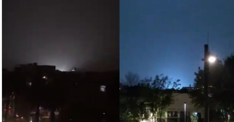 [VIDEO] Captan extrañas luces en el cielo nocturno de la CDMX