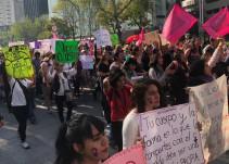 Protestan contra violencia hacia las mujeres en CDMX